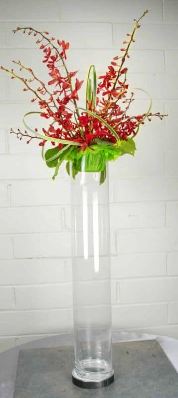 office flowers Orchid and Lily grass FFAR02172