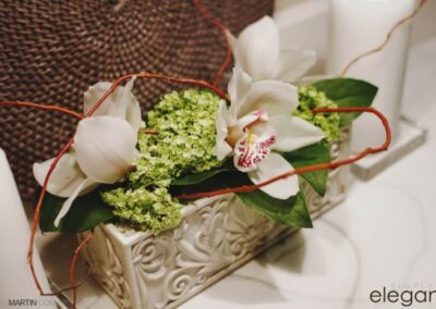 wedding flowers Florals Wedding Cymbidium and Viburnum72