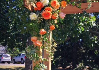 wedding flowers Left side of Archway72