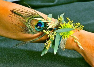 wedding flowers Peacock Corsage72