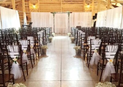 decor calgary wedding western whimsical Aisle