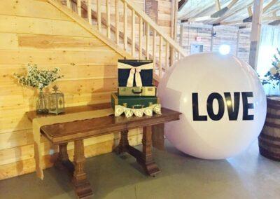 decor calgary wedding western whimsical Card table