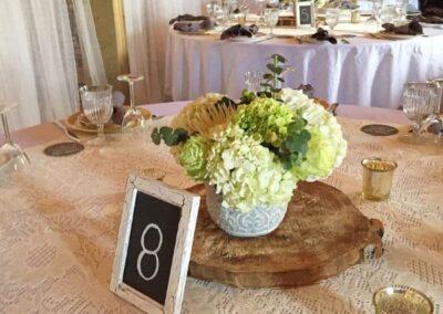 decor calgary wedding western whimsical Centerpieces
