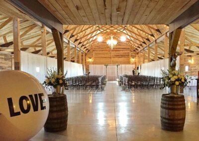 decor calgary wedding western whimsical Ceremony Area