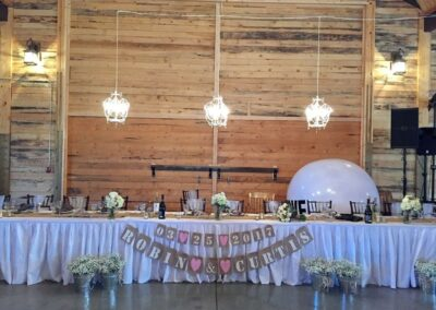 decor calgary wedding western whimsical Head Table