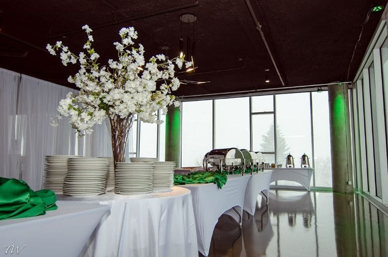 spring wedding inspiration - table served and with spring flower centerpiece