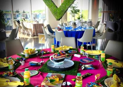 decor skyline bday party Birthday table72