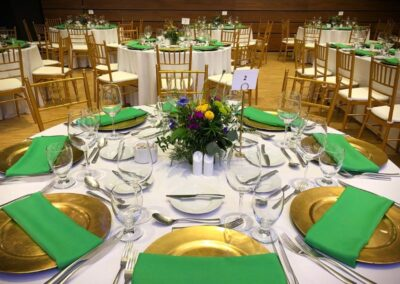 wedding decorations Calgary loves - magnificent table setting in gold