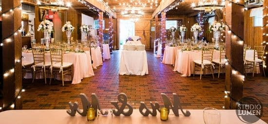 wedding planner Calgary loves - wedding hall picture from head table perspective