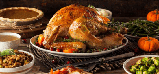 Holiday catering menu in Calgary, AB - turkey dinner
