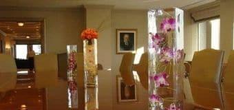 Office flowers tile