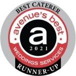 Best wedding caterer 2021 badge - Avenue Magazine